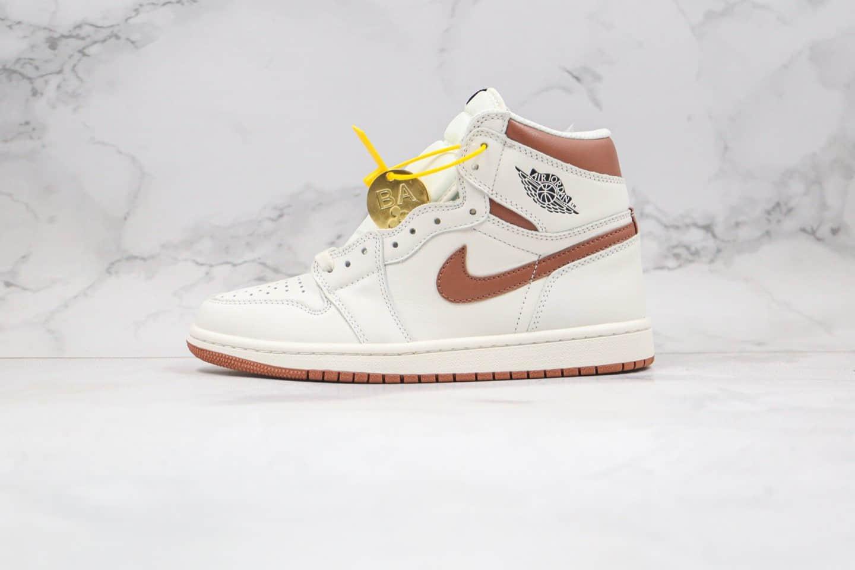 乔丹Air Jordan 1 Dark Mocha纯原版本高帮AJ1摩卡咖啡白棕色原档案数据开发正确鞋面材质 货号:555088-105