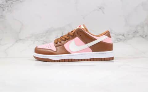 """耐克Stussy x Nike SB Dunk Low Pro """"Cherry""""公司级版本斯图西联名SB板鞋樱桃粉棕原鞋开模 货号:304292-671"""