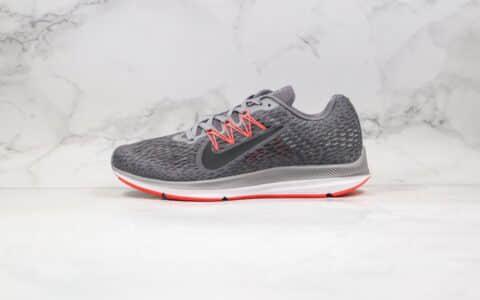 耐克Nike Zoom Winflo 5纯原版本登月5代缓震透气慢跑鞋灰粉色原盒原标区别市面通货版本 货号:AA7406-006