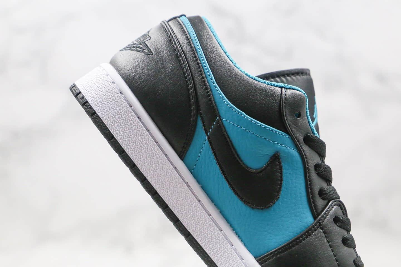 乔丹Air Jordan 1 Low纯原版本低帮AJ1黑蓝色内置气垫原楦头纸板打造原鞋开模一比一制作 货号:553558-026