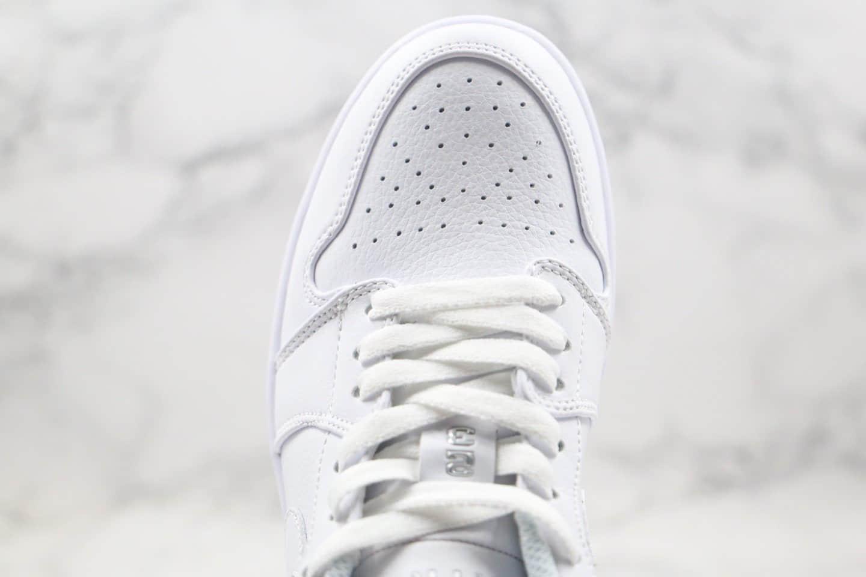 耐克Nike Air Jordan 1 Retro Low White(2004)纯原版本低帮AJ1白银夜光配色内置气垫原鞋开模打造 货号:309192-111