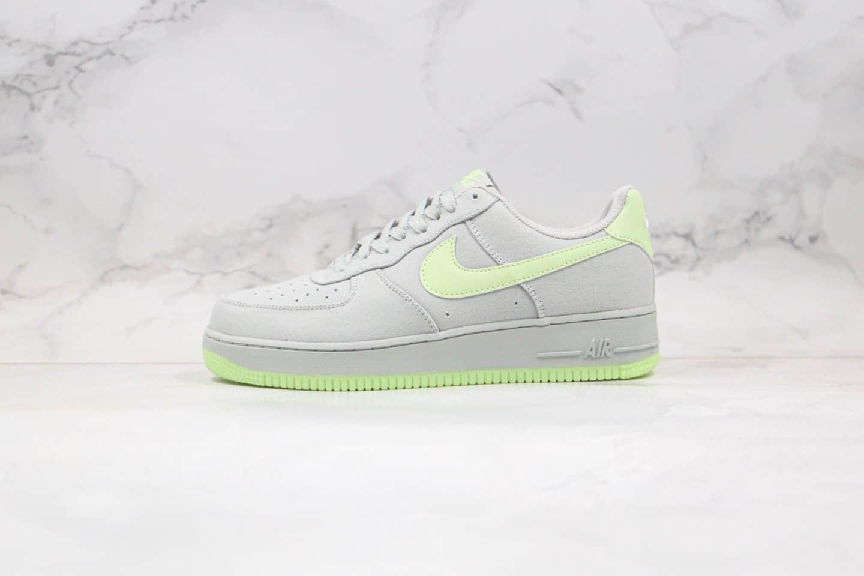 耐克Nike Air Force 1 Low纯原版本低帮空军一号灰绿色帆布面料内置气垫 货号:31