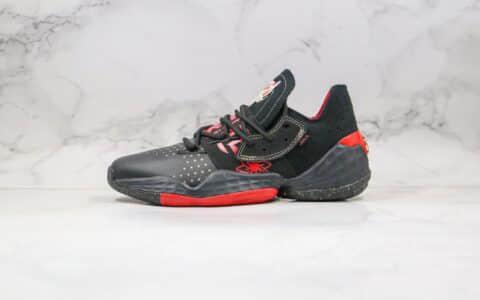 阿迪达斯Adidas Harden Vol.4 Gca纯原版本哈登4代黑红色篮球鞋支持实战 货号:EF9940