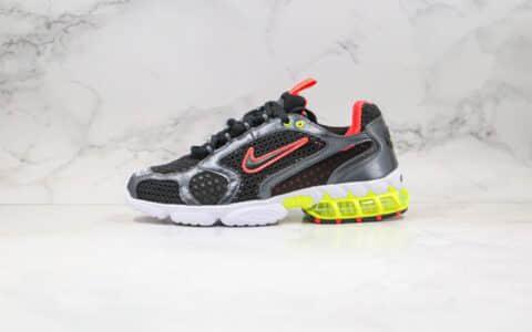 耐克Nike Air Zoom Spiridon Caged 2 x Stussy纯原版本斯图西联名款斯皮里东牢笼2代乌金闪银原盒原标 货号:CD3613-002