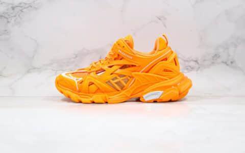 巴黎世家Balenciaga Track 4.0纯原版本复古老爹鞋四代橙色原盒配件齐全