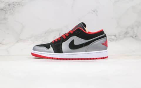 乔丹Air Jordan 1纯原版本低帮AJ1黑银色红鞋带内置气垫原盒原标原楦头纸板打造 货号:553558-002
