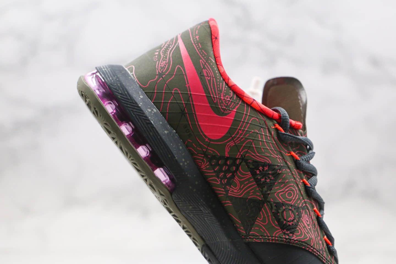 耐克Nike Zoom KD VI EP SJX纯原版本杜兰特实战篮球鞋6代黑粉色支持实战原档案数据开发 货号:599424-006