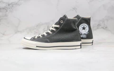 匡威Converse Addict x Madness公司级版本余文乐联名款水洗灰色高帮帆布鞋原档案数据开发原厂硫化大底