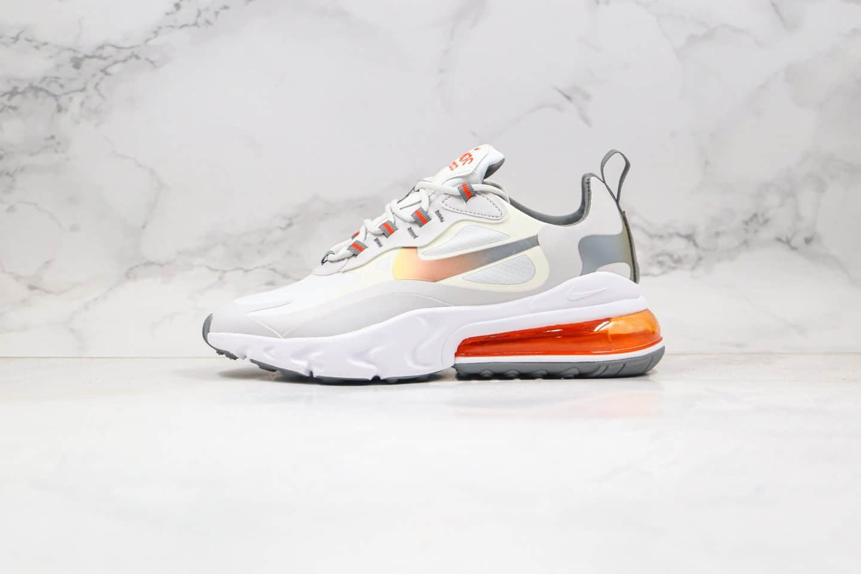 耐克Nike Air Max 270 React纯原版本半掌气垫Max270气垫鞋炫彩米白灰金渐变色原鞋开