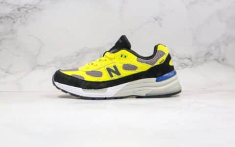 新百伦New Balance Made in USA M992纯原版本美产血统NB992黄色慢跑鞋原盒配件齐全正确鞋面材质 货号:W992FG