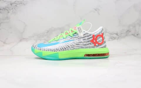 耐克Nike Zoom KD VI EP SJX纯原版本杜兰特6代篮球鞋灰绿蓝色支持实战原档案数据开发 货号:599424-121