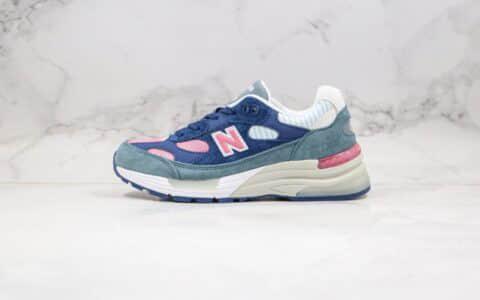 新百伦New Balance Made in USA M992纯原版本美产血统NB992蓝粉色原鞋开模一比一打造 货号:W992NT