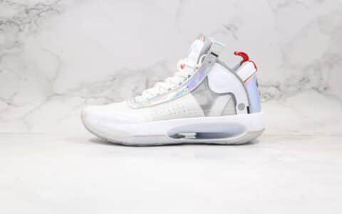 """乔丹Air Jordan 34""""White Iridescent""""纯原版本AJ34白镭射原装大盒一比一还原 货号:BQ3381-101"""