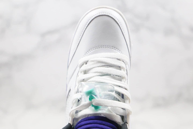 """乔丹Air Jordan 5 Retro """"Grape""""纯原版本AJ5白紫葡萄原鞋开模区别市面通货 货号:AV3919-135"""