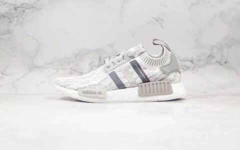 阿迪达斯Adidas NMD R-1纯原版本爆米花跑鞋NMD条纹灰色原盒原标原楦头纸板打造 货号:BY9865
