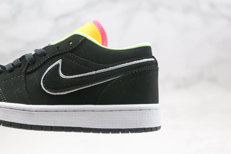 乔丹Air Jordan 1 Low纯原版本低帮AJ1黑蓝黄拼接原鞋开发原盒 货号:CK3022-013