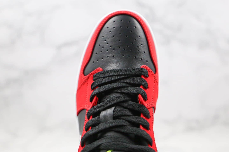 乔丹Air Jordan 1 Low纯原版本低帮AJ1黑红银色内置气垫模块原档案数据开发原盒原标 货号:553558-036