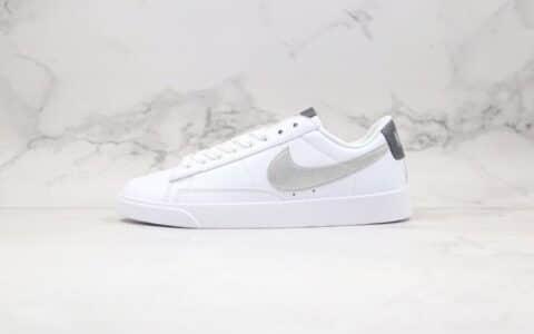 耐克Nike Blazer Low LE纯原版本开拓者低帮白银灰色皮面板鞋原档案数据开发 货号:AV9370-106