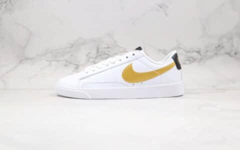 耐克Nike Blazer Low LE纯原版本低帮开拓者板鞋白金黑色皮面材质原楦头纸板打造 货号:AV9370-107