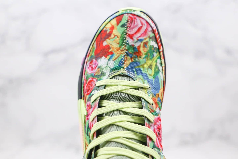 耐克Nike KD 13 GE Funkl纯原版本杜兰特13代篮球鞋花瓣花卉黑绿色内置气垫支持实战 货号:CI9948-601