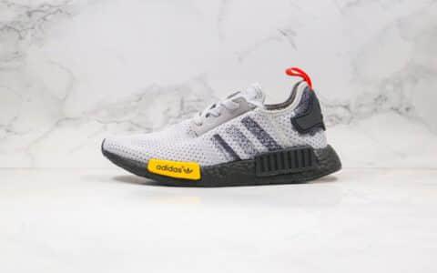 阿迪达斯Adidas NMD R1 Primeknit Triple Black纯原版本爆米花NMD跑鞋灰黑色原楦头纸板打造 货号:FV3986