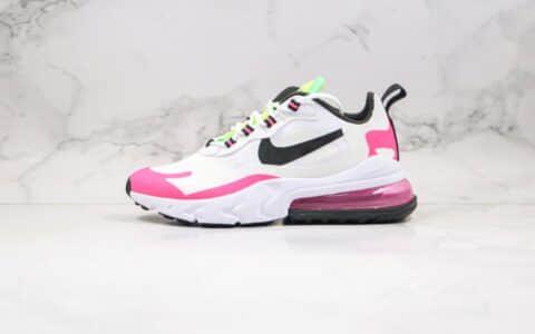 耐克Nike React Air Max 270 React LA Edition纯原版本高桥盾网纱系列半掌气垫Max270跑步鞋白粉色原盒原标 货号:CJ0619-101