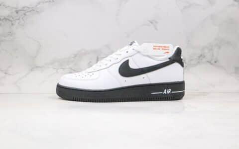 耐克Nike Air Force 1 Low '07 University纯原版本低帮空军一号大学黑配色板鞋内置Sole气垫 货号:CK7663-101