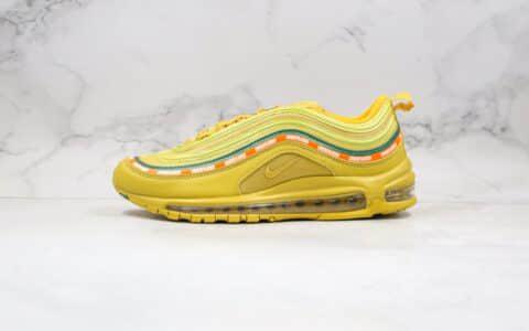 耐克Nike Air Max 97 x UNDEFEATED纯原版本子弹头气垫鞋Max97金黄色内置全掌真实气垫 货号:AJ1986-006