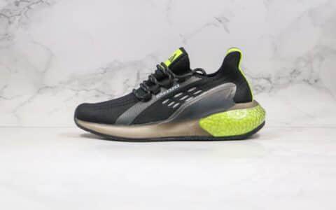 阿迪达斯Adidas Alphabounce Instinct M FT2纯原版本阿尔法跑鞋十周年纪念版黑绿色原档案数据开发 货号:CG3402