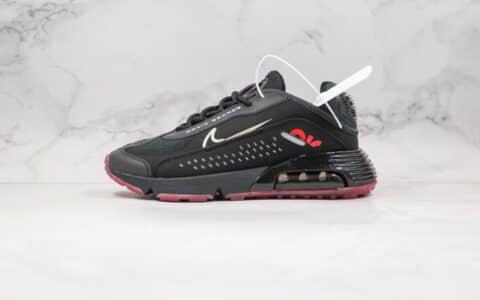 耐克Nike Air Max 2090 Neymar Jr纯原版本内马尔联名款Max2090气垫鞋黑酒红配色内置真气垫 货号:CU9371-001