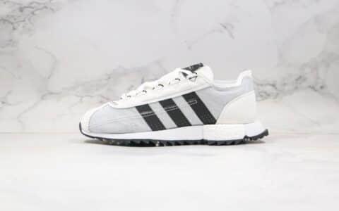 阿迪达斯Adidas SL 7600 3M反光配色王嘉尔同款纯原版本复古爆米花跑鞋白黑色原盒原标 货号:FV9796