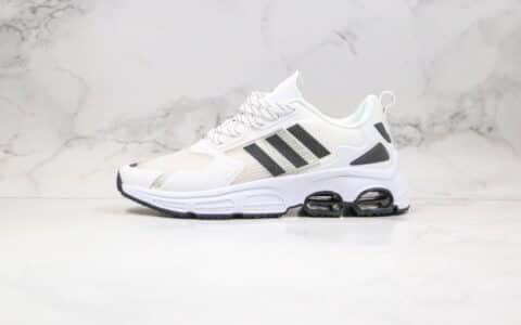 阿迪达斯adidas Quadcube公司级版本复古气垫跑鞋厚底运动鞋白黑色原数据开发 货号:FG7172