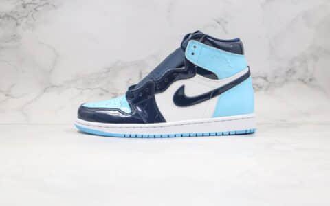"""乔丹Air Jordan 1 Retro High OG""""UNC Patent""""纯原版本高帮AJ1全明星漆皮北卡蓝原鞋开发原盒原标 货号:CD0461-401"""