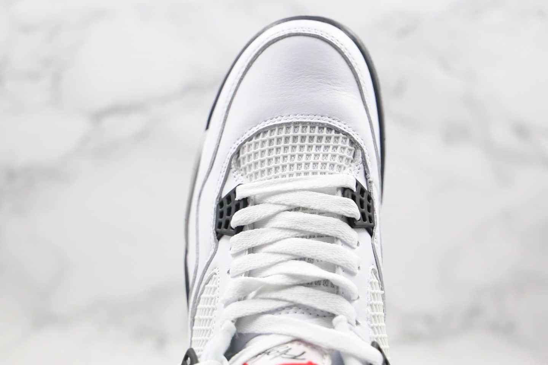"""乔丹Air Jordan 4 Retro""""White Cement""""纯原版本AJ4白水泥原楦原档案开发区别市面通货版本 货号:840606-192"""