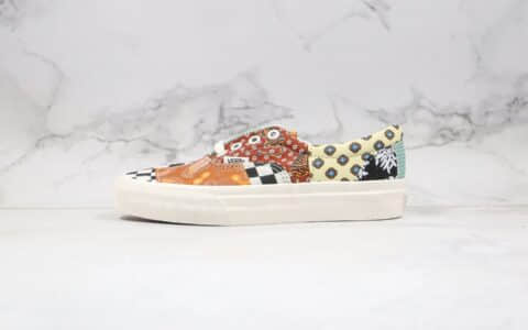 万斯VANS Era公司级版本低帮硫化板鞋腰果花配色花卉图案拼接不对称系列原楦头纸板打造 货号:VN0A4U391IO