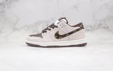 耐克Nike SB Dunk Low Loon纯原版本低帮DUNK板鞋LV联名款灰棕色扣篮系列内置Zoom气垫 货号:BQ6817-020