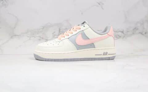耐克Nike Air Force 1 Low(2020)Pink white LF纯原版本低帮空军一号板鞋灰粉色梦巴黎配色内置Sole气垫 货号:CW7584-101