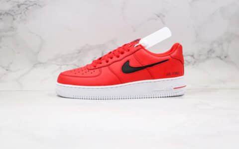 耐克Nike Air Force 1 LV8 1 Fresh Air GS纯原版本低帮空军一号板鞋编织格子勾红黑色原档案数据开发 货号:CZ7377-600