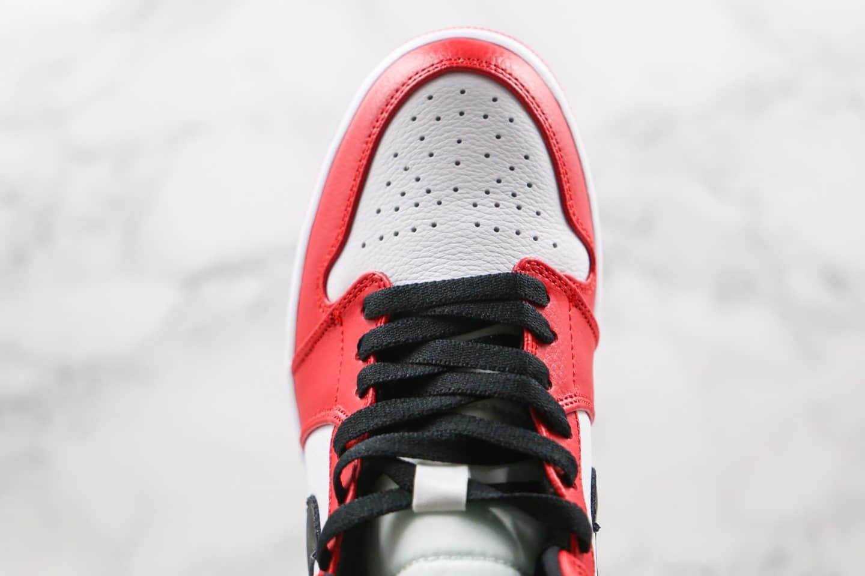 乔丹Air Jordan 1 Mid Chicago纯原版本中帮AJ1小芝加哥白红黑配色篮球鞋内置气垫原鞋开模一比一打造 货号:554724-173