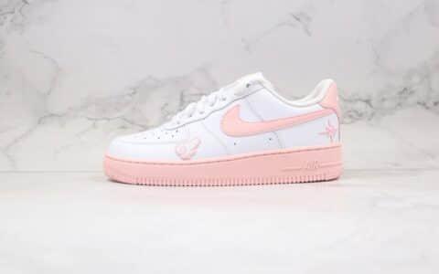 耐克Nike Air Force 1 Pink Foam White LF纯原版本低帮空军一号粉白樱花色板鞋内置全掌Sole气垫 货号:CV7663-100