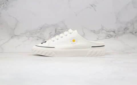 香奈儿Chanel纯原版本韩国设计师合作款雏菊半拖帆布鞋原版开发