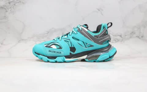 巴黎世家Balenciaga Sneaker Tess s.Gomma MAILLE WHITE ORANGE莞产纯原版本复古老爹鞋3.0湖水蓝配色原档案数据开发