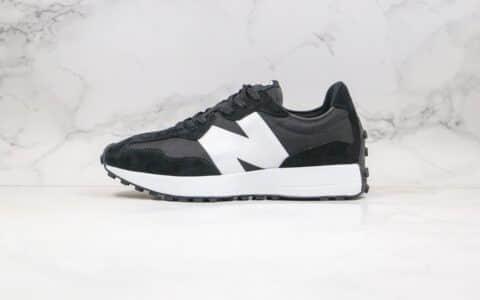 纯原版本NB327复古慢跑鞋黑白色出货