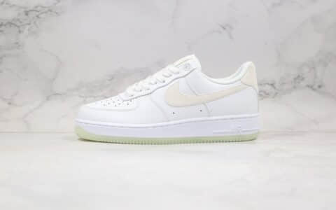 耐克Nike Air Force 1 '07纯原版本AF1空军一号夜光白色原盒内置气垫 货号:AO2132-101