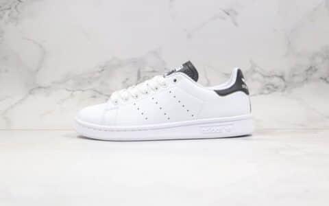 阿迪达斯adidas Originals Stan Smith W纯原版本史密斯板鞋白黑色进口头层皮料 货号:EG4549
