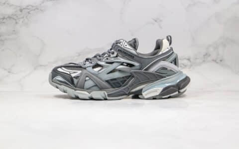 巴黎世家四代复古老爹鞋黑灰色出货