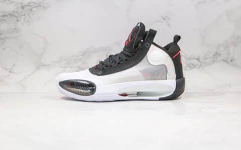 乔丹Air Jordan XXXIV Eclipse纯原版本高帮篮球鞋AJ34黑白色篮球鞋内置真实气垫支持实战 货号:BQ3381-100