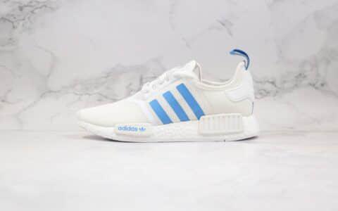 阿迪达斯Adidas NMD R-1纯原版本爆米花跑鞋NMD街头风格白蓝色原厂巴斯夫缓震大底 货号:D96689