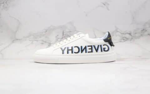 纪梵希Givenchy Low-top lace-up sneakers纯原版本版本3D打印字母印花系列小白鞋顶级无胶工艺