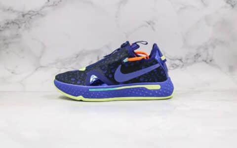 耐克Nike PG 4 EP纯原版本保罗乔治四代篮球鞋黑蓝色内置气垫支持实战 货号:CD5086-500